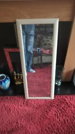 LARGE OBLONG CREAM MIRROR 38X 14 inch