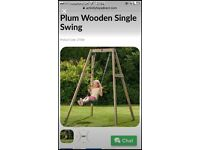 Brand New Plum Wooden Swing