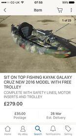 Galaxy fishing kyak used handful of times