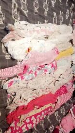 0-3 month girls sleepsuits