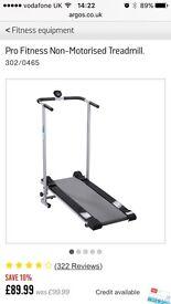 Pro-fitness non-motorised Treadmill