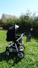 2 in 1 pram stroller