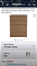 Brand New Oak Wardrobe and Chest of Drawers