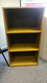 beech effect bookcase