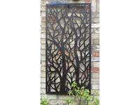Garden metal art tree screen, brown/rust finish, easy to hang size 120cm x 61cm