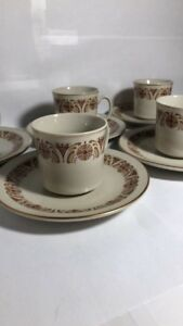 Espresso Cups and Saucers Set Of 5