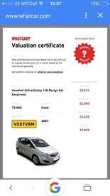 Vauxhall Zafira 1.8L 57 Plate Easytronic