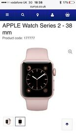 Apple iWatch 38mm series 2 in rose gold. New with box.