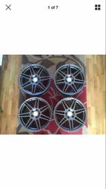 "NEW 18"" Calibre Alloy wheels to fit VW/Seat/Skoda/Audi"