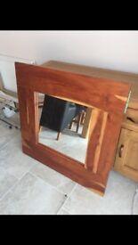 Mirror solid oak
