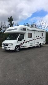 Swift kon tiki 665 six berth motorhome . Fixed double bed. Over cab king size. Home from home