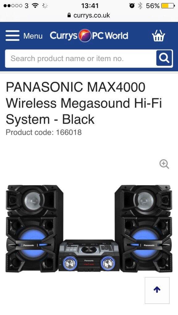 Panasonic max4000 dj system