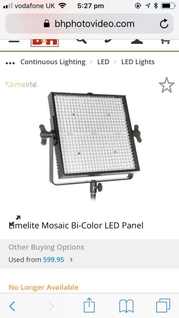 Photography Video Lights Bowens Limelite Mosaic Bi Color Led
