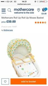Mothercare Moses basket (stand not included)
