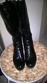 ladies black knee high boots size 8