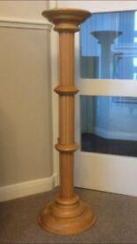 Tall Light Wood Pedestal Excellent Condition