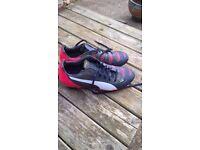 Puma Evo power football boots size 5