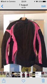 Ladies Textile Motor Bike Jacket Size 10/12