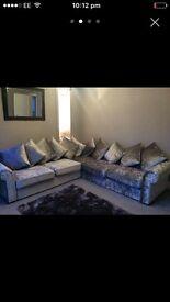 Velvet crush sofa