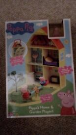 Brand New Boxed Peppa Pig Home and Garden Playset