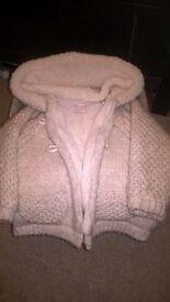 Beautiful Soft chunky knit cardigan / coat by Zara 18-24mths