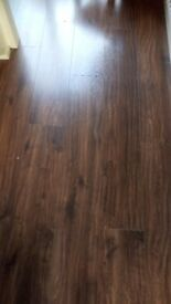 Laminate wood flooring, good condition, can be used in any room as hard wearing