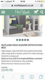 Rutland high sleeper single bed