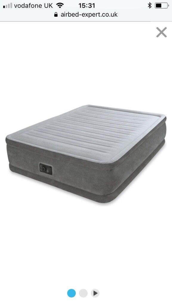 Intex comfort plush elevated queen size air bed
