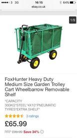 Foxhunter festival or garden trolley wagon cart