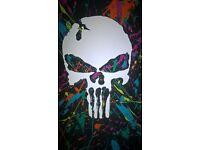 Custom Drum Kit - 5 piece set - Punisher Skull Matt paint job