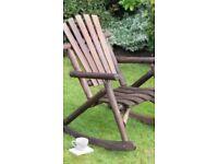 Wooden garden rocker