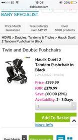 Hauck duett 2 double buggy basically brand new!!