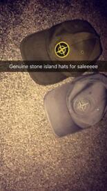 2 genuine stone island hats