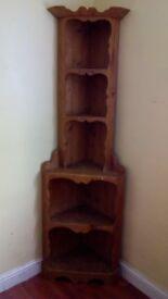 Vintage pine corner unit