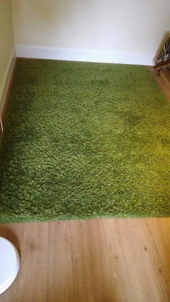 IKEA HAMPEN rug, high pile, with FREE anti slip underlay