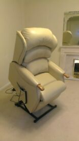 Riser Recliner Armchair Duel Motor in Leather