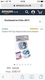 Toy hotpoint cooker and washing machine