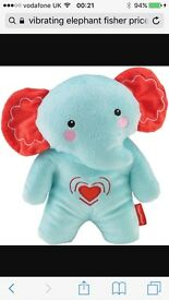 Fisher Price vibrating musical soothing elephant