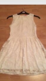 Influence Cream Lace Dress Size 6 -8 or Age 13-14