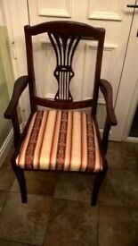 TWO VINTAGE STYLE CARVER CHAIRS