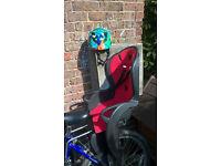 Hamax Child Bike Seat + adjustable safety helmet