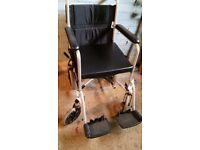 Z-Tec Folding Steel Transit Wheelchair - steel