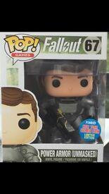Fallout 4 limited edition New York Comic-Con power armour unmasked pop figure