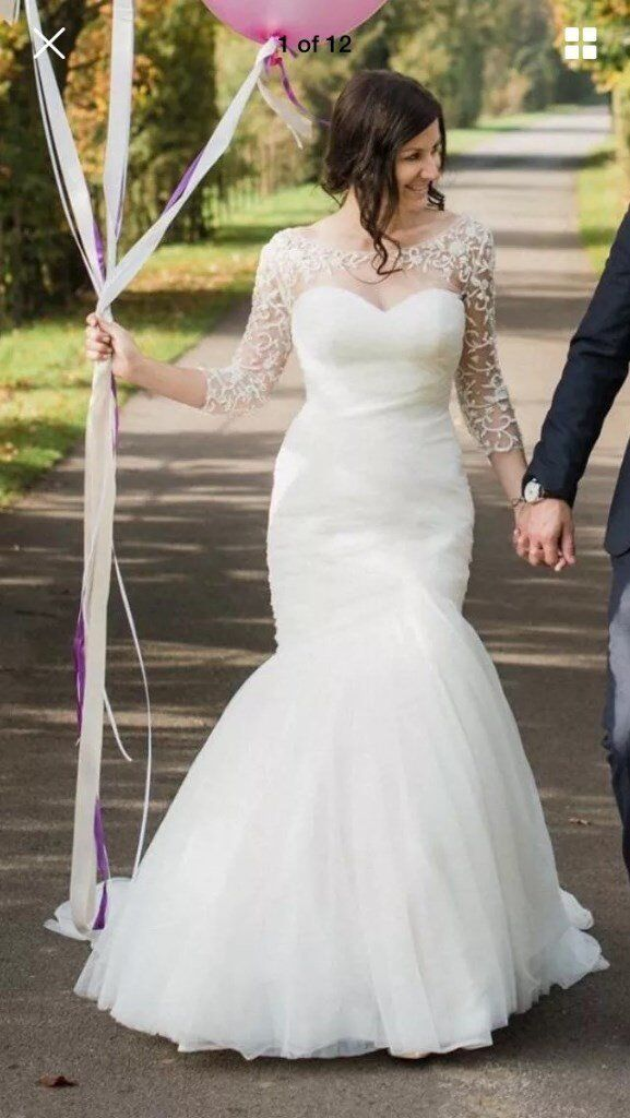 Essence Of Australia Wedding Dress D1541 plus Embellished Bolero Jacket, Belt