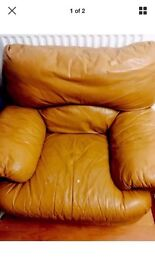 Cosy Arm chair sofa real leather