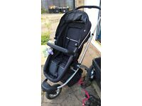 black mothercare my3 buggy