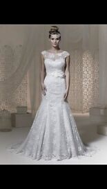 Brand new Phoenix wedding dress, lace, fishtail, with veil, 50% discount