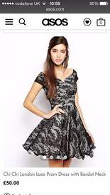 Black Lace Prom Dress, Dress, Party dress, Christmas party dress