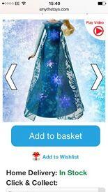 Elsa frozen singing light up doll brand new