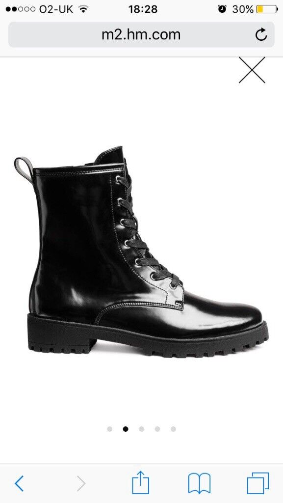 H&M black boots size 6 *worn once*